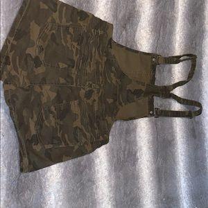 American Bazi Shorts - American Bazi army denim overalls